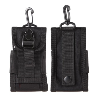 Black Tactical Molle Cell Phone/Iphone Smartphone Waist Pouch -intl
