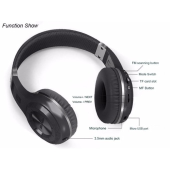 Bluedio HT 4.1 Stereo Bluetooth Wireless On-Ear Headphone Wireless Headset Earphone For Computer Head Phone With Mic - intl - 3