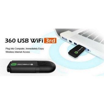 Bluesky Portable 360 Wifi 3 Wi-Fi Roteador 360 Wi Fi RouterRepeater Ultramini MINI Wireless Router Adapter Computer NetworkingShare, Black (Intl) - 4