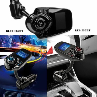 Bluetooth Car Kit MP3 Player Hands-free Call Wireless FMTransmitter Car charger Support Micro TF Card For iPhone forSamsung - intl - 4