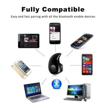 Bluetooth Earphone Mini Wireless in ear Earpiece Cordless Handsfree Headphone Blutooth Stereo Auriculares Earbuds HeadsetPhone(Black) - intl - 5