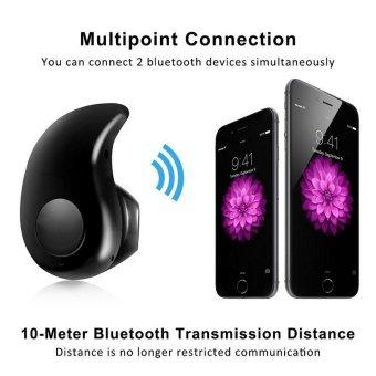 Bluetooth Earphone Mini Wireless in ear Earpiece Cordless Handsfree Headphone Blutooth Stereo Auriculares Earbuds HeadsetPhone(Black) - intl - 4