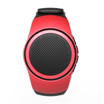 Bluetooth Watch Speaker With TF Card Slot (Red)