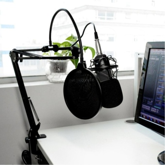 BM-700 Studio Broadcasting Recording Condenser Microphone(Black) - intl - 2