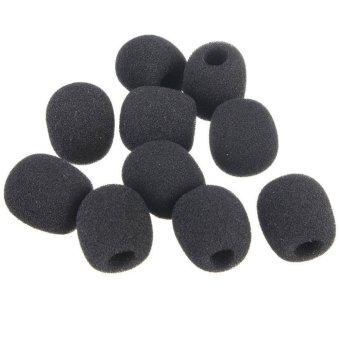 BolehDeals 10 Small Black Foam Cover Windscreen Windshield frLavalier Lapel Microphone - 3