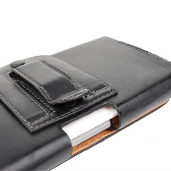 BONVAN Universal Leather Belt Pouch Case Cover Holster Belt Clipfor Various Mobile 4.0 inch-5.0 inch - intl - 3