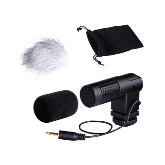BOYA BY-V01 Stereo X/Y Mini Condenser Microphone / Mic for Canon Nikon Pentax Sony DSLR Camcorder (Intl) Price Philippines