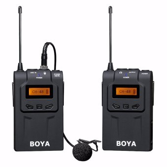 BOYA BY-WM6 Ultra High Frequency UHF Wireless Lavalier MicrophoneSystem for Canon Nikon Sony DSLR Camera Audio Recorder - intl - 2