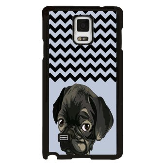 Bulldog Pattern Phone Case for Samsung Galaxy Note 4 N9100 (Black) - picture 2
