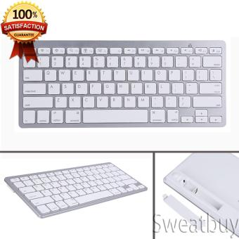 [Buy 1 Get 1 Free Gift] (Ready Stock)Bluetooth Wireless Keyboard Ultra-Slim Silver - intl