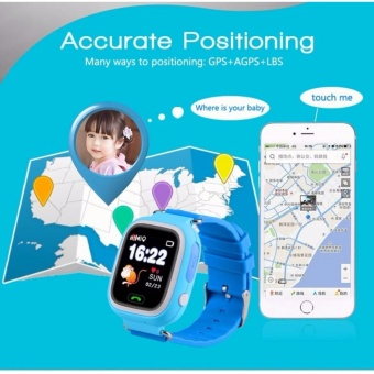 BUY 1 GET 2 FREEBIES: Q90 Children Smart Watch Kids Wrist Watch with Anti-lost GPS Tracker SOS Call Location Finder Remote Monitor Pedometer Functions Parent Control By iPhone and Android Smartphones - 3