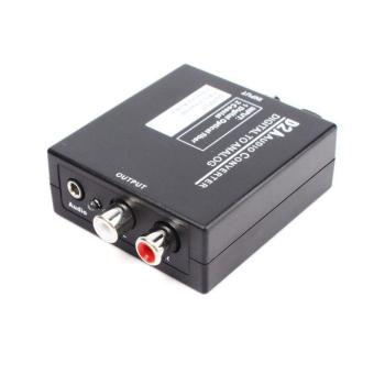BUYINCOINS Mini D2A Optical Coax Coaxial Toslink Digital to Analog Audio Converter L/R