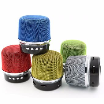 BY1030 Microphone Shape Music Bluetooth Changing Color Speaker With Subwoofer Loudspeaker (Silver) - 5