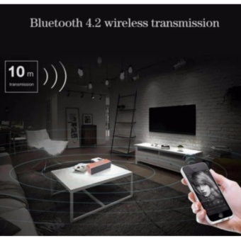 By1040 Wireless Subwoofer Bluetooth Active Speaker With TfHandsfree Functions (Silver) - 4