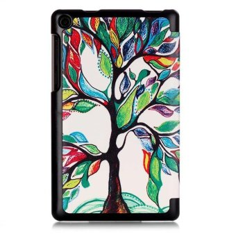 BYT Colorful Printing Tablet Leather 3 Folio Flip Cover Case forLenovo Tab3 7 Essential TB3-710F/IF - intl - 3