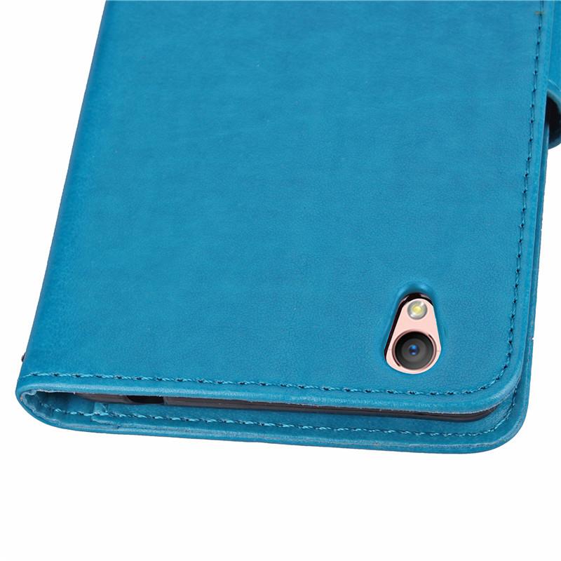 ... BYT Flower Debossed Leather Flip Cover Case for Oppo A37 (Blue) ...