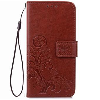 BYT Flower Debossed Leather Flip Cover Case for Samsung Galaxy J7Prime - intl - 2 ...