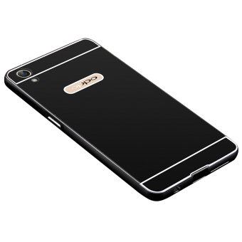 BYT Metal Bumper+PC Back Cover Case for Oppo A37 A37MT (Black) - 5