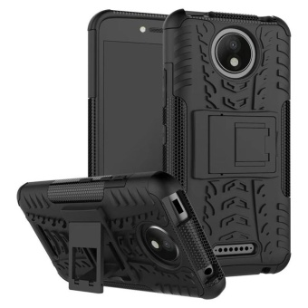 BYT Rugged Armor Dazzle Back Cover Case for Motorola Moto C Plus -intl