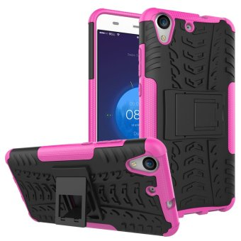 BYT Rugged Dazzle Case for Huawei Y6 II with Kickstand (Rose) -intl