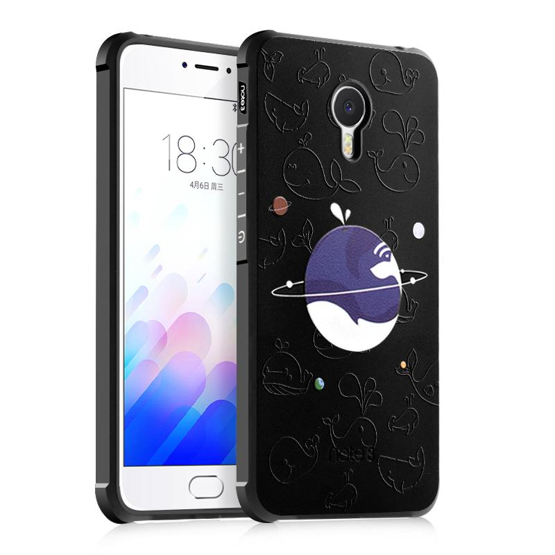 BYT Silicon Debossed Printing Cover Case for Meizu M3 Note - intl