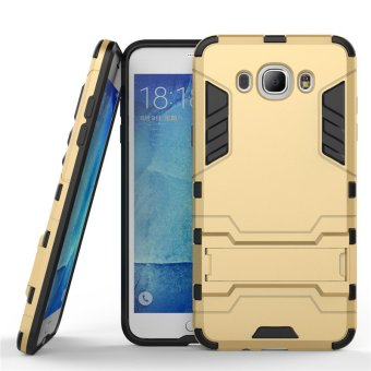 BYT TPU+PC Hybrid Phone Case for Samsung Galaxy J7 2015 (Gold)