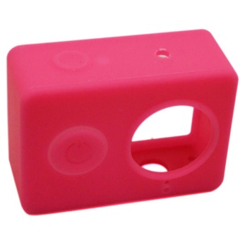 Camera Accessories Case Protection Waterproof Silicone Case SoftProtector Set 7 Go Pro Hero 4 3 Eken H9 - Rose Red - intl