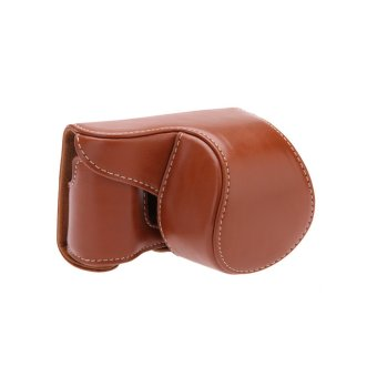 Camera Bag Case Cover Pouch for Sony A5000 A5100 NEX 3N Brown