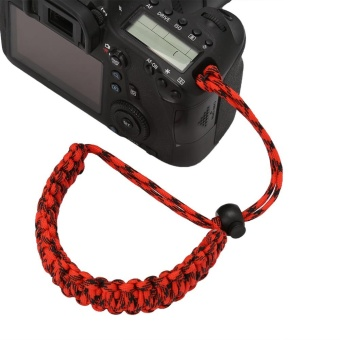Camera Wrist Strap Hand Grip Outdoor Adjustable Paracord Lanyard Red Black - intl - 3