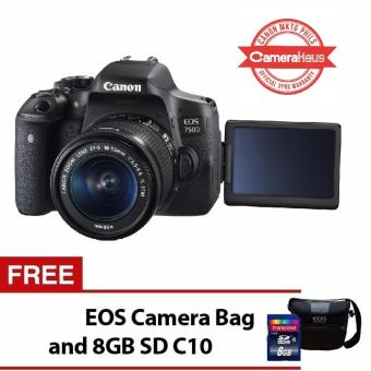 Canon EOS 750D 24.2MP Digital SLR Camera with 18-55mm Lens Kit with FREE EOS Camera Bag and 8GB SD Card