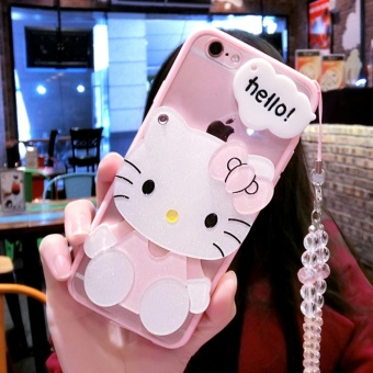 Cartoon cute mirror Case For OPPO A33 NEO 7(KT + crystal lanyard) -intl