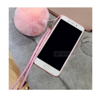 Cartoon cute mirror Case For OPPO A59/F1s(pink+Hair ball KT) - intl - 2