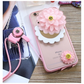 Cartoon cute mirror Case For Oppo F3(Pink + lotus) - intl Price Philippines