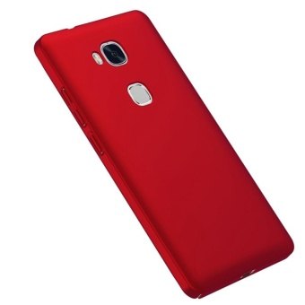 Case for Huawei Honor 5X / Huawei GR5 (5.5 inch) Ultra Thin Hard PCBack Cover Smooth Grip Case (Red) - intl - 3