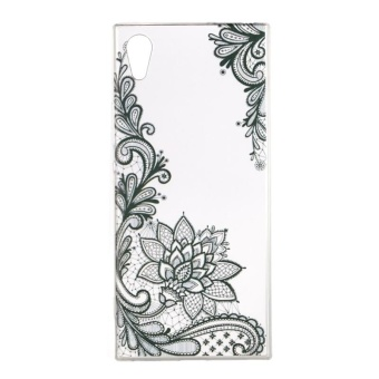 Case for Sony Xperia XA1 Slim Fit Soft TPU Back Case Cover (BlackFlower) - intl