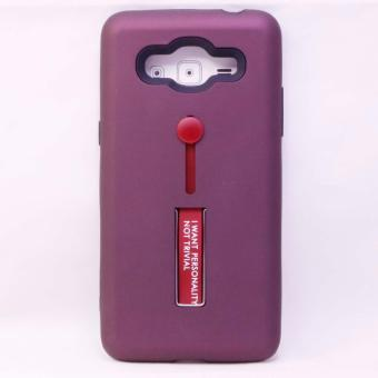 CASE R8 TPU w/HOLDER & STAND ASSORTED Samsung Galaxy J2 Prime(2027-555-Maroon)