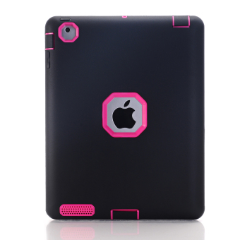 Case Rubber Shockproof Heavy Duty Hard Cover for Apple iPad Mini 12 3(Black) - Intl Price Philippines