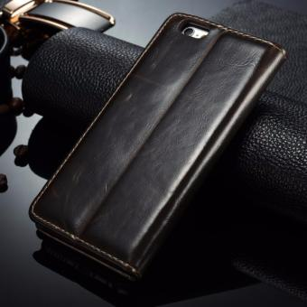 Caseme Luxurious Leather Flip Cover Case for Iphone 6 and 6s - 2