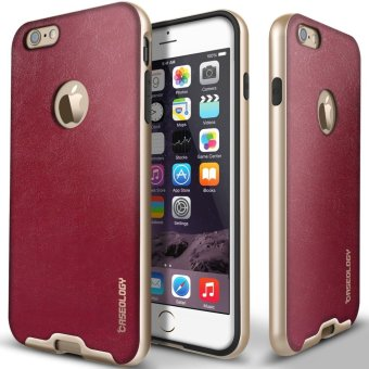 CASEOLOGY Bumper Frame Case for Apple iPhone 6 (Leather Burgundy Red)
