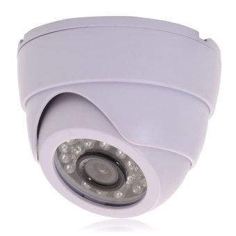 Cctv 1200tvl Video 24 Ir 3.6mm Lens Night Wired Dome Camera (White) - intl