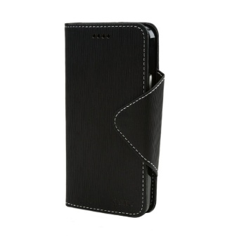 Cellto Faux Leather Diary Flip Case for HTC One (Black)