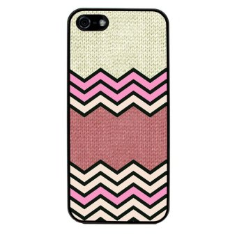 Chevron Anchor Boat Pattern Phone Case for iPhone 4/4S (Black)