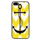 Chevron Anchor Boat Pattern Phone Case for iPhone 4/4S (Black) - thumbnail 1