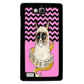 Chevron Grumpy Cat Pattern Phone Case for Huawei Honor 3C (Black)