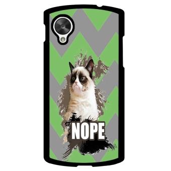 Chevron Grumpy Cat Pattern Phone Case for LG Nexus 5 (Multicolor)