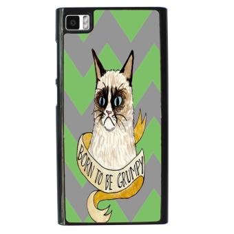 Chevron Grumpy Cat Pattern Phone Case for Xiaomi Mi3 (Multicolor)