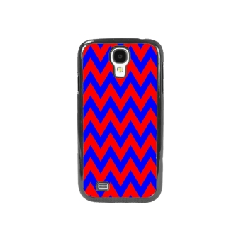 Chevron Pattern Phone Case for Samsung Galaxy S4 (Red)