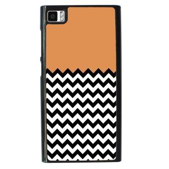 Chevron Pattern Phone Case for Xiaomi Mi3 (Black)