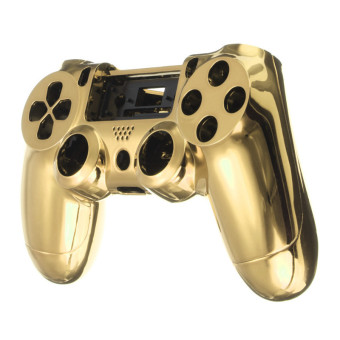 Chrome Skin Housing Shell Case Cover For Sony PlayStation 4 PS4 Controller (Gold)