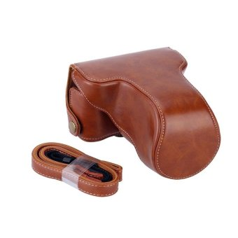 Classic Pu Leather Camera Case Bag Protective Pouch WithShoulderstrap For Fuji Fujifilm X-A1 X-A2 X-A3 X-M1 - intl Price Philippines